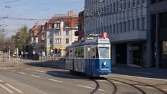 Tram Museum Zrich 2016 -  Ce 4/4 1530 beim Klusplatz  in Zrich (hrs51) Tags: tram tramway strassenbahn streetcar zurich zrich ce 44 1530 pedaler linie 8 museum trammuseum burgwies schweiz suisse svizzera switzerland fotofahrt klusplatz
