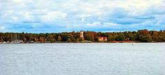 Kiikartorni (Joni Mansikka) Tags: nature autumn sea shore boats marina masts tower colours trees leaves building outdoor landscape clouds balticsea kiikartorni rauma suomi finland tamronspaf2875mmf28xrdildasphericalif