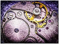 grungy hdr cogs with vignette (wilstony1) Tags: watch movement artistic abstract colour canon eos650d vignette mechanism time timepiece cogs