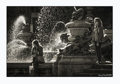 So this is Bristol (zolaczakl ( 2 million views, thanks everyone)) Tags: bristol bristolinmonochrome mono monochrome blackandwhitebristol blackandwhite victoriaroomsfountain victoriarooms people figures water sculpture fountain uk england southwest photographybyjeremyfennell nikond7100 nikonafsnikkor24120mmf4gedvrlens september 2016 candid streetscenes