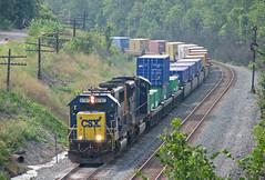 CSX 8787 (GLC 392) Tags: csx signal stack train railroad railway mcdonald oh ohio emd sd60 8787 sd70mac 4821 color position light bo code line