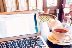 Writing (like / want / need) Tags: writing cafe parc novel tea amwriting totallyrad presets kodakreala