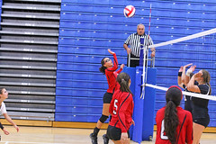 IMG_3058 (SJH Foto) Tags: girls volleyball high school mount olive mt team tween teen teenager varsity net battle spike block action shot jump midair
