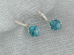 Teal topaz onion cut earrings in SS 05.05.12