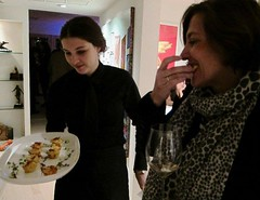 Sylvie Cazes enjoys the Mac & Cheese Puffs