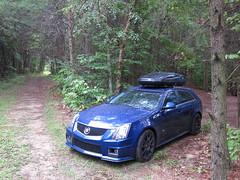 CTS-V in the dirt (brickfrenzy) Tags: wagon cadillac ctsv