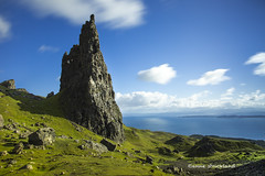 Pinnacle (Anne Strickland) Tags: skye scotland isleofskye pinnacle oldmanofstorr isleofskyescotland scottishlandscapes trotternishpeninsula fantasylandscapes dramaticlandscapes rockylandscapes