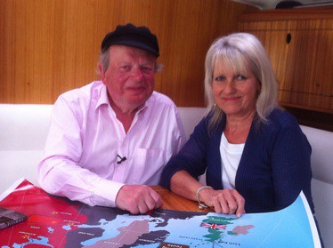 John Sargeant with Jacky Brookes from the Arctic Convoy Museum Project.