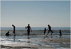 On the beach (bob the bolder) Tags: uk beach silhouette cornwall cove candid contrejour polurrian