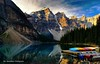 Banff National Park (now for sale on Getty Images) (Rex Montalban Photography) Tags: lake canada rockies canadian alberta banff hdr moraine nationalgeographic banffnationalpark morainelake canadianrockies rexmontalbanphotography