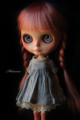 Isabella (Melacacia - Please no FMs) Tags: wood pink girl hat angel hair doll dress little sweet feather mel human blythe majorette custom baton mecanique hairs 113 poupee melacacia
