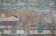 Buddha of Medicine Bhaishajyaguru, detail with dragon