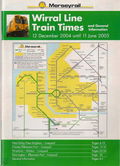 Merseyrail Wirral Line Timetable From 12th December 2004 Until 11th June 2005 (Luke O'Rourke) Tags: liverpool map birkenhead southport timetable wirral merseyside merseyrail