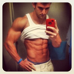 hhhhmmm which do I like more his phone or his abs (Jaclyn Diva) Tags: models handsome handsomeguys hunkalicious gorgeousmen handsomemale hunkymen jaclyndiva