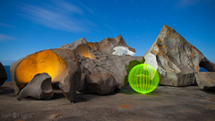 Ball of Light - State of Love (biskitboy) Tags: lightpainting rock rocks orb australia orbs southaustralia kangarooisland balloflight remarkablerocks lapp 5dmkii 5dmk2