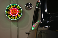 used cars.... (Baja Juan) Tags: cars car sign wednesday happy blurry bokeh indoor used baja texa hbw
