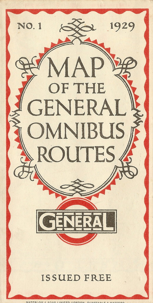 Map Of The London General Omnibus Routes 1929