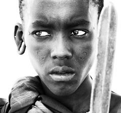 tanzania - masai (peo pea) Tags: africa people blackandwhite bw tanzania bn ritratti ritratto masai bianconero mygearandme