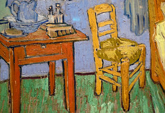 Van Gogh, The Bedroom, detail with chair
