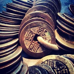 Day 24 - Chinese Cash Coins (akhenatenator) Tags: money chinese learning volunteer worth1000 objecthandling