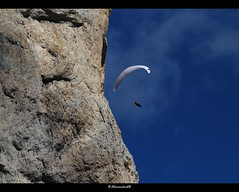 The ultimate freedom (bernd obervossbeck) Tags: rock paragliding paraglider dolomites dolomitealps felsen gleitschirm dolomiten gleitschirmfliegen mygearandme