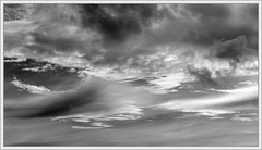 Turbulence (ShinyPhotoScotland) Tags: sky blackandwhite sunlight art nature weather composite clouds manipulated lens landscape photography scotland warm emotion space dramatic places equipment conflict pentacon distance toned contrasts tranquil stacked lightanddark turmoil existentialist dumfriesandgalloway digikam newtonstewart cloudappreciation rawconversion pentacon50mm enfuse rawtherapee timeflows abstractqualities