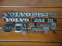 Volvo car badges (GoldScotland71) Tags: car volvo 1970s badges 1980s 244dl 145s 264gl