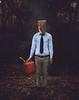 Businessman (Kyle.Thompson) Tags: boy guy businessman forest bag fire woods head tie 365 kylethompson