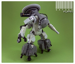 S.A.F.S.R.S Puffin (curtydc) Tags: robot model war lego space jet hard machine suit creation pack future kit booster mecha mech krieger moc maschinen hardsuit