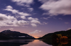 Night sky at Loch Lomond (Bryan Harkin) Tags: light orange reflection night clouds stars landscape purple ben awesome bryan loch lomond harkin