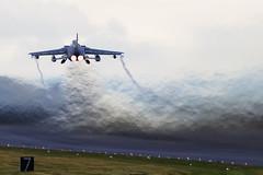 ZG756 Tornado GR4 (PhoenixFlyer2008) Tags: speed canon scotland aircraft military jelly 23 tornado runway raf moray lossiemouth panavia gr4 heathaze jetwash cqwi neilbates jointwarrior airteamcanoncouk