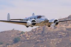 Beech D18S (Trent Bell) Tags: california airport riverside aircraft socal flyingcircus beechcraft beech flyin 2012 cavalcade model18 twinbeech d18s flabob n1140