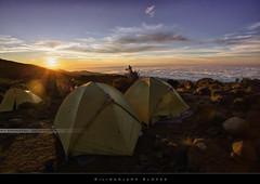 Kilimanjaro slopes (bgspix) Tags: africa morning sun kilimanjaro mtkilimanjaro expedition sunrise trek canon tanzania rising climb tents top altitude climbing moutain hdr marangu ef1740f4l kilimandjaro uhurupeak rongai roofofafrica stellapoint 5895m topofafrica cloudssea summitmtkilimanjaro 5dmarkiii