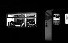 Train (forayinto35mm) Tags: film night 35mm pentax kodak trix grain highcontrast trains kodaktrix pentaxmesuper southwesttrains iso1600 putney id11 trix1600