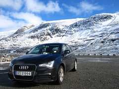 Audi A1 (carlossg) Tags: road old snow norway a1 audi sognogfjordane strynefjellet