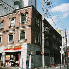 A brick building (hakudai) Tags: 6x6 film japan yokohama texer