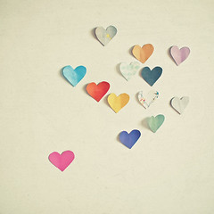 Paper Hearts (_cassia_) Tags: red orange art yellow print photography turquoise fineart minimal collection lilac charcoal cutpaper romantic colourful etsy simple valentinesday darkblue hotpink folksy lightgrey darkgrey paperhearts lolasroom romanticart cassiabeck
