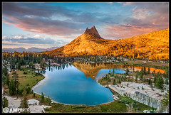 Cathedralglow (Aaron M Photo) Tags: california park pink trees sunset sky lake mountains reflection nature beautiful clouds landscape outdoors nationalpark nikon scenery glow cathedral scenic peak climbing yosemite yosemitenationalpark sick alpenglow cathedralpeak cathedrallake uppercathedrallake nikond800 siliconvalleyphotography aaronmeyersphotography