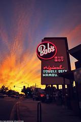 Bob's Big Boy, burbank CA (dj murdok photos) Tags: boy sunset urban clouds landscape losangeles big dusk burbank bobs studiocity northhollywood 818 richcolors 1650ssm