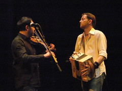 Faustus 18 (petereduk) Tags: cambridge england music concert folk gig livemusic band accordion junction violin fiddle trio faustus melodeon saulrose paulsartin faustusband faustusmusic