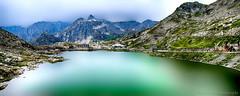 Col du Grand-Saint-Bernard...... (Malain17) Tags: lac mountains alpes paysage sky clouds nuages waterscape photography photographers pentax colors poselongue lake