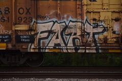 FART (TheGraffitiHunters) Tags: street art train graffiti colorful paint tracks spray fart boxcar graff freight benched benching