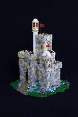 Vermillion Castle (jsnyder002) Tags: lego castle medieval moc creation model middle eastern minaret snot stonework rockwork landscape tan tiles dome tower gatehouse brickfair yeoldmerrybattleground