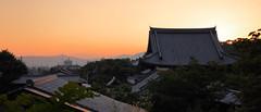(Dajathwi) Tags: japan japanese landscape kyoto temple sunset sky skyline city nature orange