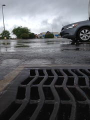 Rain in OfficeMax parking lot (dankeck) Tags: drain sewer water ihop rivervalleymall