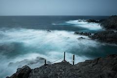 Fancy a swim? (helena678) Tags: sea waves rocks tide water seascape longexposure blue tenerife canaryislands nikon