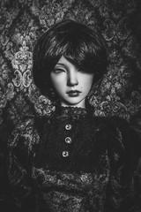 Monochrome Asa portrait (lauradavison) Tags: bjd abjd resin ball jointed doll sd female iplehouse eid asa portrait victorian gothic fantasy monochrome black white