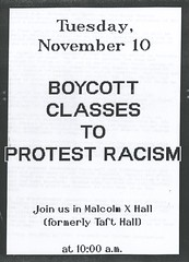 1992 Black Student Leadership Group Protest (University of Rhode Island Photos) Tags: 125thanniversary 1992 protest boycott blackstudentleadershipgroup