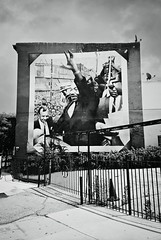 R2-E071 (David Swift Photography Thanks for 18 million view) Tags: davidswiftphotography philadelphia westphiladelphia murals muralartsprogram philadelphiamurals martinlutherking civilrights publicart streetscapes 35mm film yashicat4 ilfordxp2