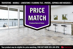 TRAVERTINE TILE FRENCH PATTERN PRICE MATCH